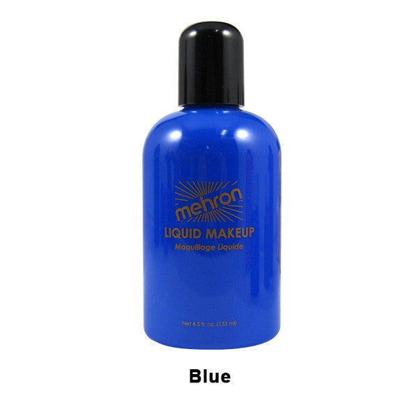 Mehron Liquid Makeup for Face, Body and Hair - 4.5oz / Blue | Camera Ready Cosmetics - 7