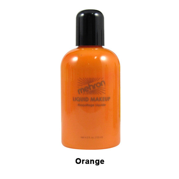Mehron Liquid Makeup for Face, Body and Hair - 4.5oz / Orange | Camera Ready Cosmetics - 24