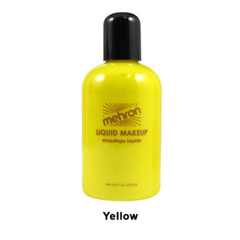 alt Mehron Liquid Makeup for Face Body and Hair 4.5oz / Yellow