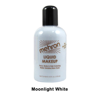 alt Mehron Liquid Makeup for Face Body and Hair 4.5oz / Moonlight White