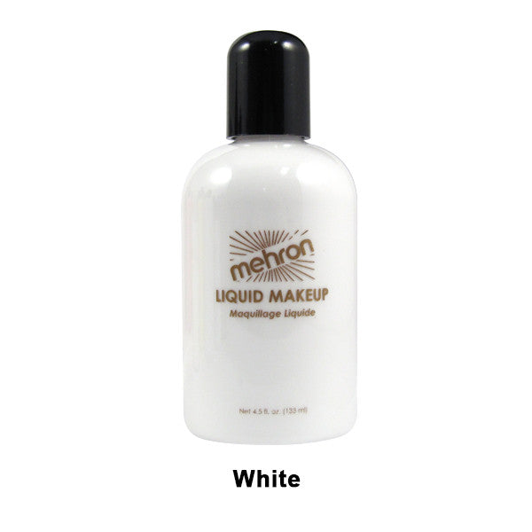 Mehron Liquid Makeup for Face, Body and Hair - 4.5oz / White | Camera Ready Cosmetics - 34