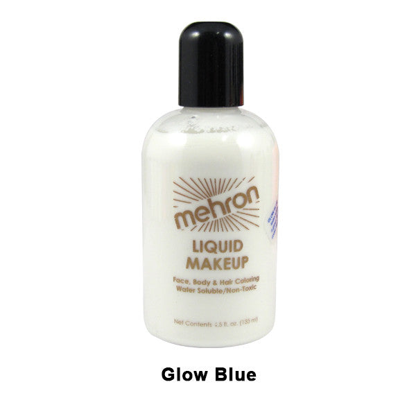 Mehron Liquid Makeup for Face, Body and Hair - 4.5oz / Glow Blue | Camera Ready Cosmetics - 9