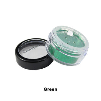 Graftobian Glitter Powder - Green (96107) | Camera Ready Cosmetics - 9