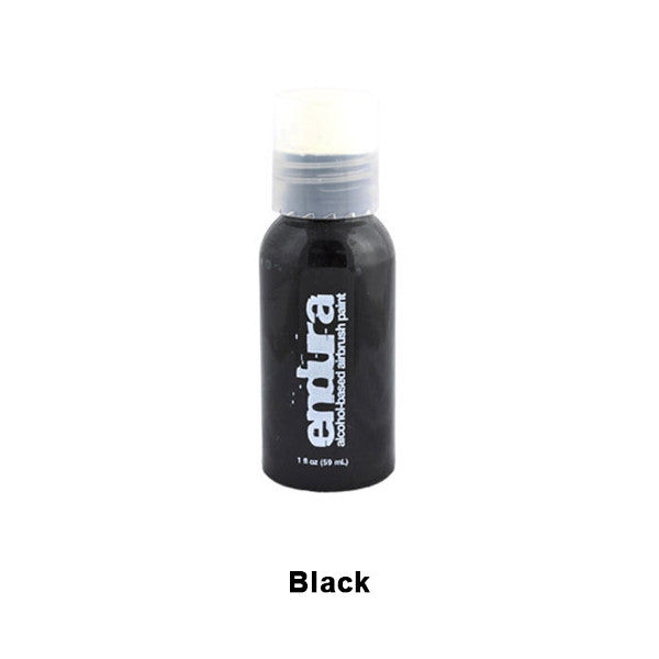 European Body Art Endura Airbrush Liquids - Black | Camera Ready Cosmetics - 2