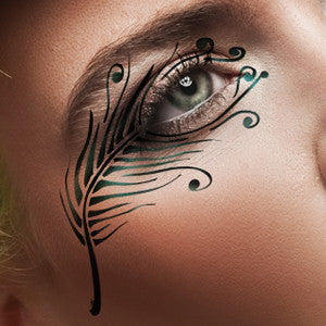 alt European Body Art - Airbrush Makeup Stencils Feather (FA0048)