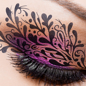 alt European Body Art - Airbrush Makeup Stencils Leaves (FA0090)