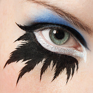 alt European Body Art - Airbrush Makeup Stencils Lower Lash Feather Lashes (FA0066)