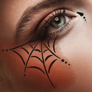 European Body Art Airbrush Makeup Stencils - Web (FA0049) | Camera Ready Cosmetics - 7