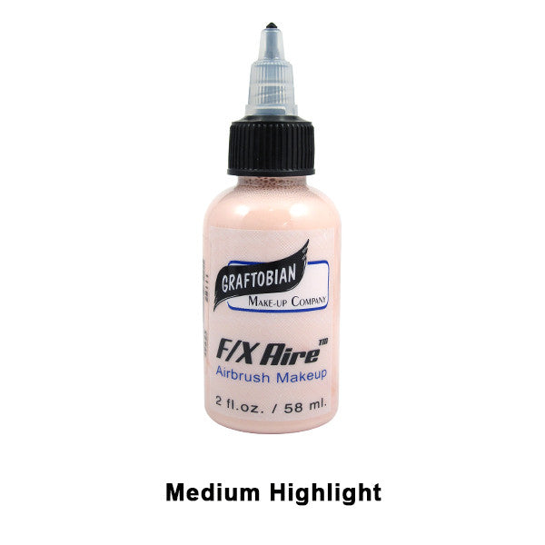 Graftobian F/X Aire Airbrush Makeup - Medium Highlight (28111) | Camera Ready Cosmetics - 24