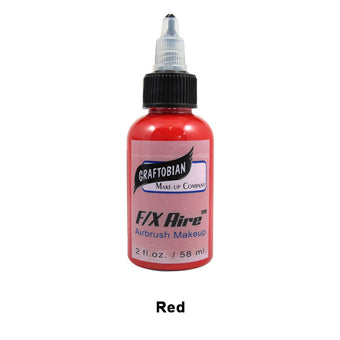 Graftobian F/X Aire Airbrush Makeup - Red (28003) | Camera Ready Cosmetics - 36