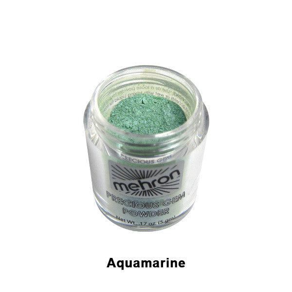 Mehron Celebre Precious Gem Powder - Aquamarine (203-AQ) | Camera Ready Cosmetics - 4