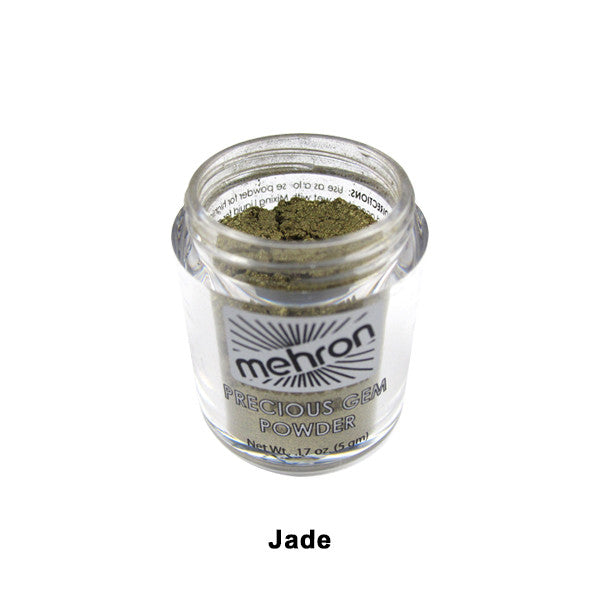Mehron Celebre Precious Gem Powder - Jade (203-JD) | Camera Ready Cosmetics - 12
