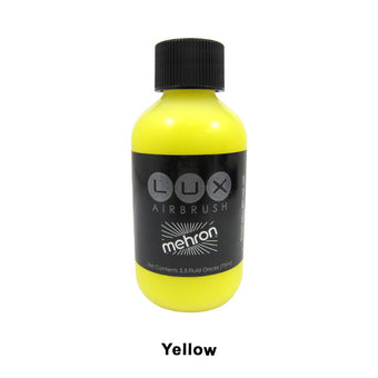 Mehron LUX Airbrush Makeup  2.5fl.oz. / 75ml. - Yellow (211-Y) | Camera Ready Cosmetics - 20