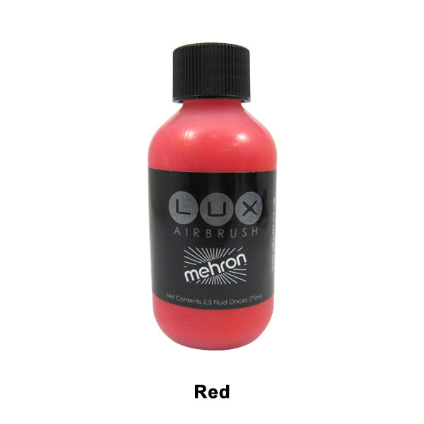Mehron LUX Airbrush Makeup  2.5fl.oz. / 75ml. - Red (211-R) | Camera Ready Cosmetics - 16