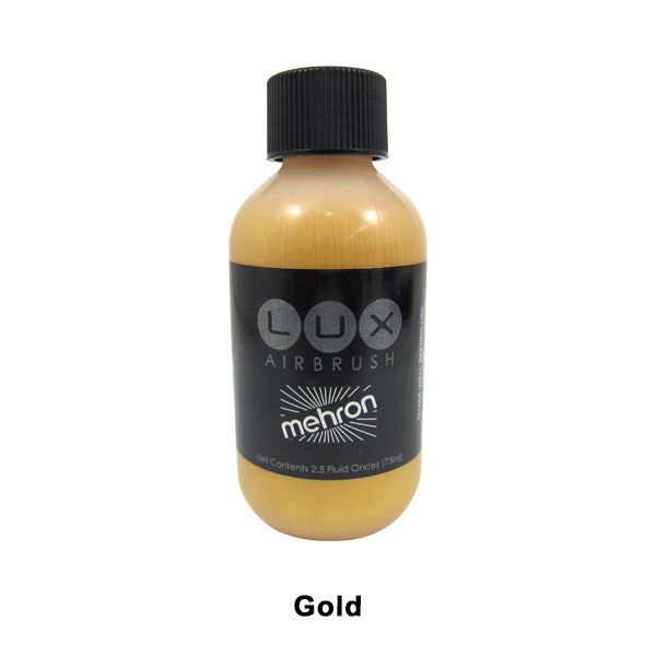 Mehron LUX Airbrush Makeup  2.5fl.oz. / 75ml. - Gold (211-GD) | Camera Ready Cosmetics - 12