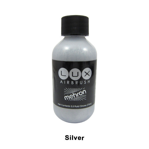 Mehron LUX Airbrush Makeup  2.5fl.oz. / 75ml. - Silver (211-S) | Camera Ready Cosmetics - 17