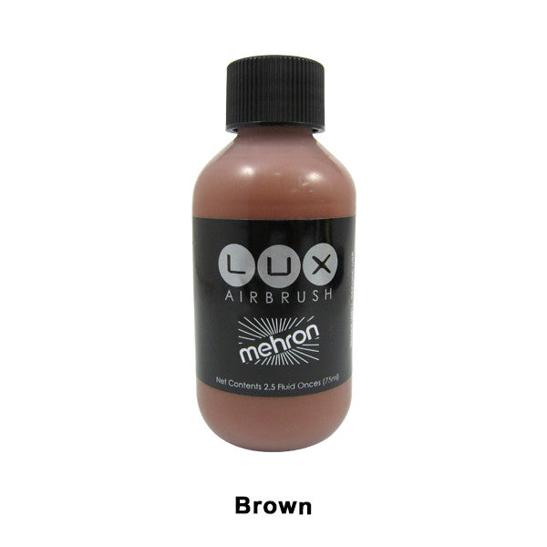Mehron LUX Airbrush Makeup  2.5fl.oz. / 75ml. - Brown (211-BR) | Camera Ready Cosmetics - 7