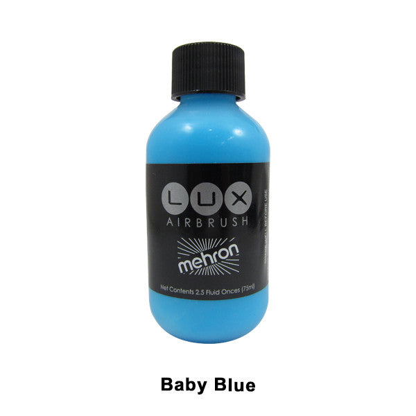 Mehron LUX Airbrush Makeup  2.5fl.oz. / 75ml. - Baby Blue (211-BBL) | Camera Ready Cosmetics - 2