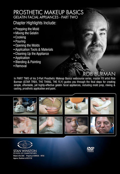 alt Stan Winston Studios | Prosthetic Makeup Basics - Gelatin Facial Appliances