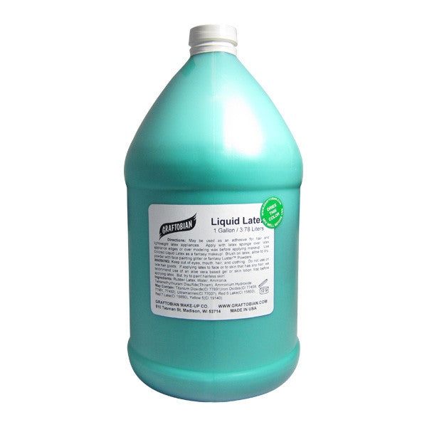 Graftobian Liquid Latex - Green / 1 Gallon | Camera Ready Cosmetics - 14