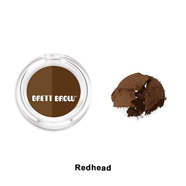 Brett Brow - Duo Shade Brow Powders - Redhead | Camera Ready Cosmetics - 8