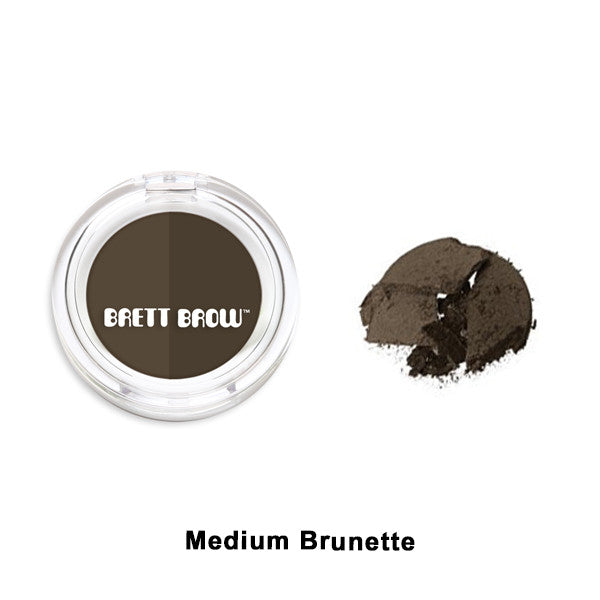 Brett Brow - Duo Shade Brow Powders - Medium Brunette | Camera Ready Cosmetics - 6