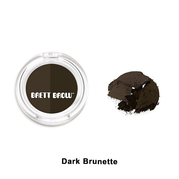 Brett Brow - Duo Shade Brow Powders - Dark Brunette | Camera Ready Cosmetics - 2