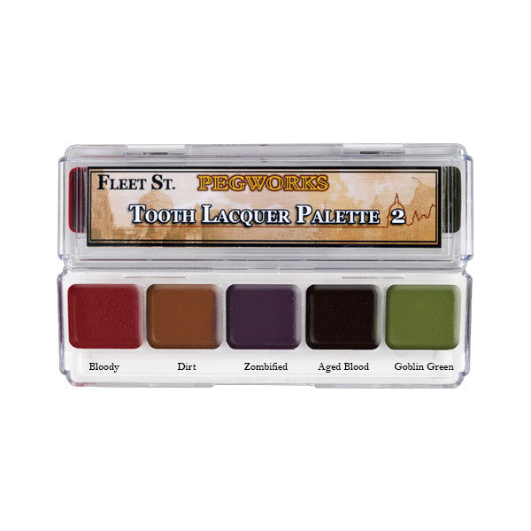 PPI Fleet Street Pegworks Tooth Lacquer Palette - Palette #2 | Camera Ready Cosmetics - 4