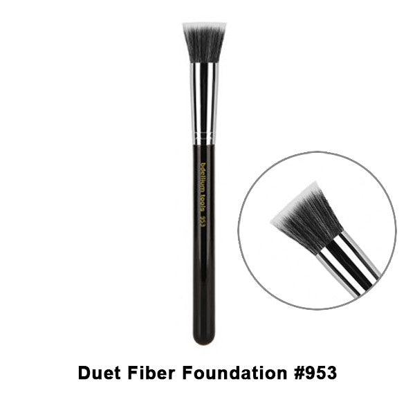 Bdellium Tools Maestro Series Brushes for Face - 953 Duet Fiber Foundation | Camera Ready Cosmetics - 17