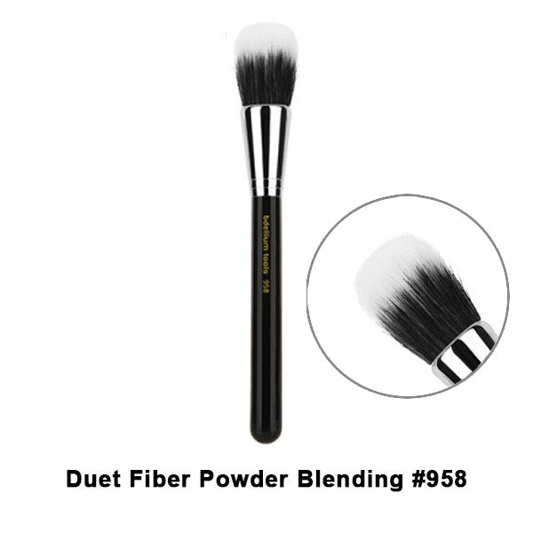 Bdellium Tools Maestro Series Brushes for Face - 958 Duet Fiber Powder Blending | Camera Ready Cosmetics - 22