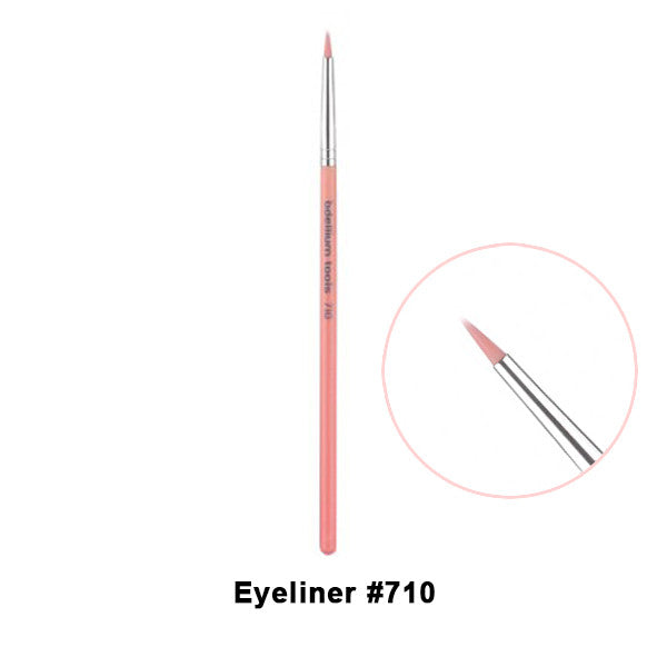 Bdellium Tools Pink Bambu Brushes for Eyes - 710 Eye Liner | Camera Ready Cosmetics - 4