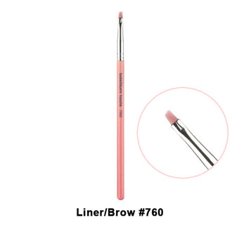alt Bdellium Tools Pink Bambu Brushes for Eyes 760 Liner/Brown Pencil (Pink)