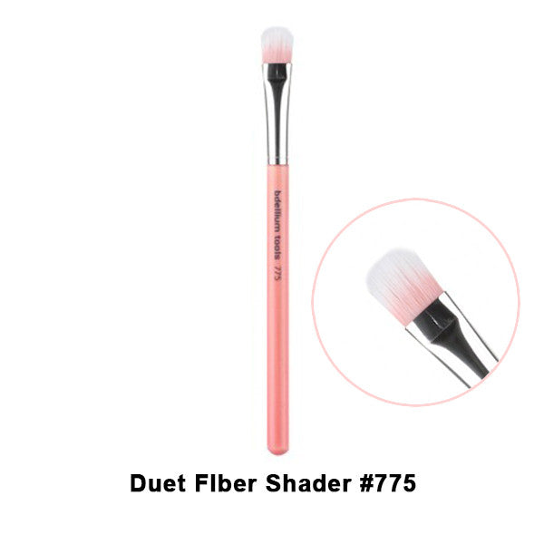 Bdellium Tools Pink Bambu Brushes for Eyes - 775 Duet Fiber Shader | Camera Ready Cosmetics - 18
