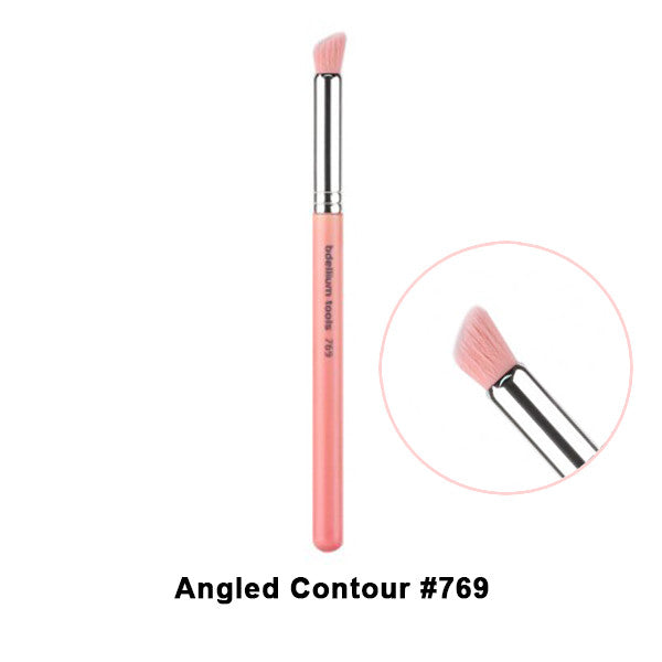 Bdellium Tools Pink Bambu Brushes for Eyes - 769 Angled Contour | Camera Ready Cosmetics - 16