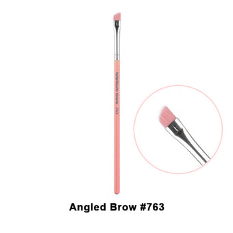 alt Bdellium Tools Pink Bambu Brushes for Eyes 763 Angled Brow (Pink)