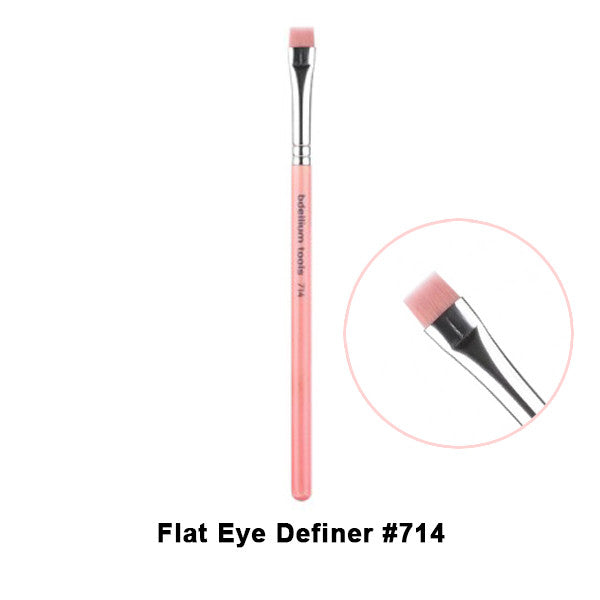 Bdellium Tools Pink Bambu Brushes for Eyes - 714 Flat Eye Definer | Camera Ready Cosmetics - 6