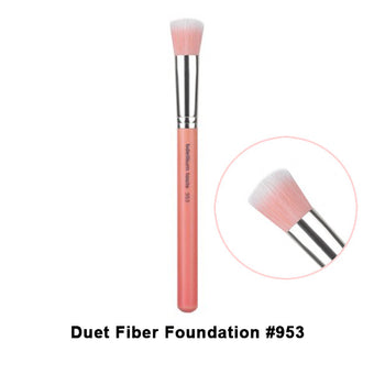 Bdellium Tools Pink Bambu Brushes for Face - 953 Duet Fiber Foundation | Camera Ready Cosmetics - 18