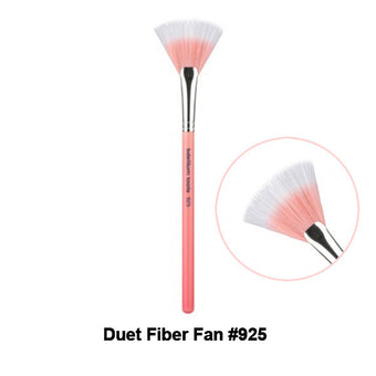 Bdellium Tools Pink Bambu Brushes for Face - 925 Duet Fiber Fan | Camera Ready Cosmetics - 5