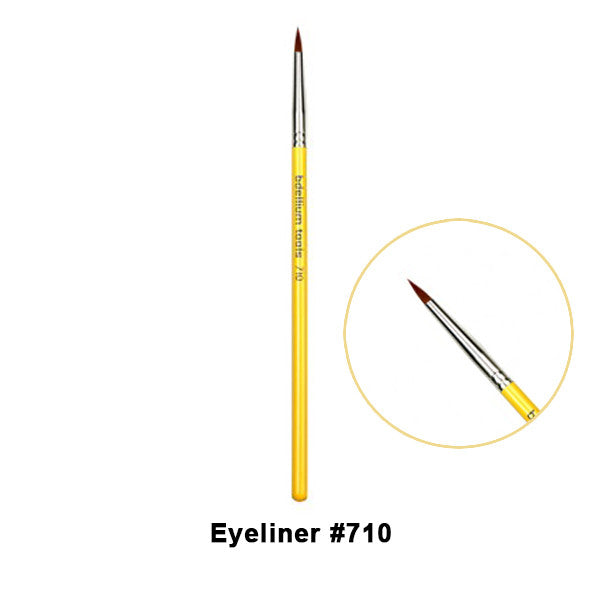 Bdellium Tools Studio Line Brushes for Eyes - 710 Eyeliner | Camera Ready Cosmetics - 4