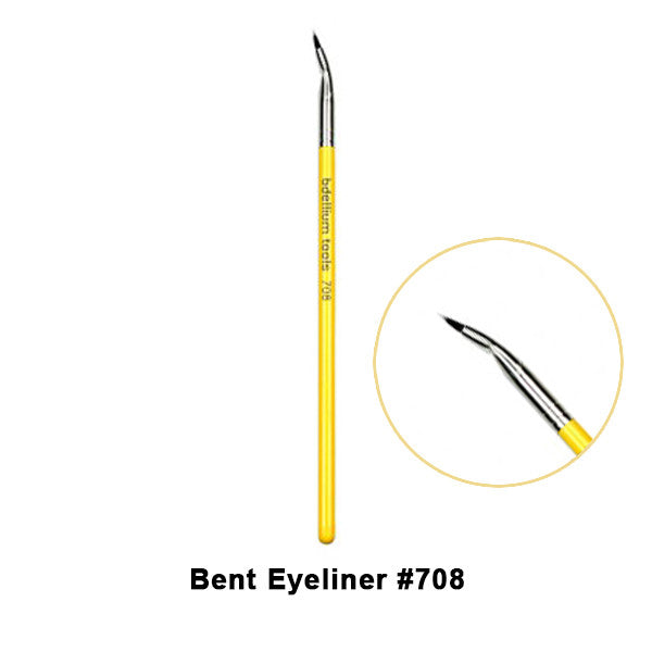 Bdellium Tools Studio Line Brushes for Eyes - 708  Bent Eyeliner | Camera Ready Cosmetics - 3