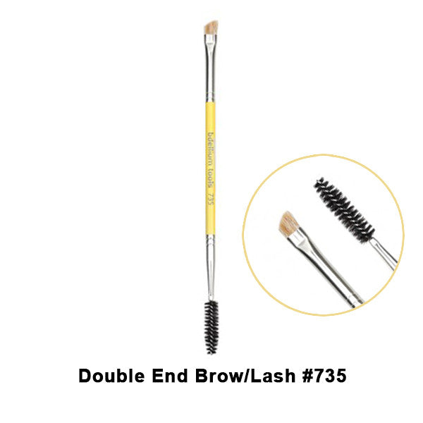 Bdellium Tools Studio Line Brushes for Eyes - 735 Double End Brow/Lash | Camera Ready Cosmetics - 12