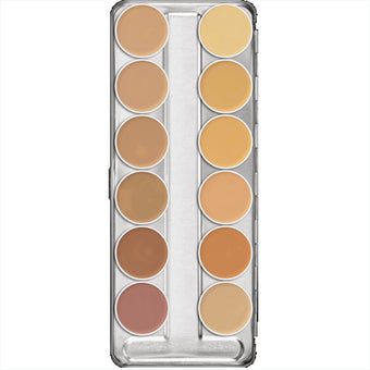 Kryolan Dermacolor Camouflage Creme Palette 12 Colors - (A)  | Camera Ready Cosmetics