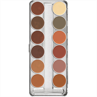 Kryolan Dermacolor Camouflage Creme Palette 12 Colors - (B)  | Camera Ready Cosmetics