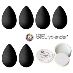 beautyblender® pro BLACK Pack (6 Blenders + 1 Solid Cleanser) -