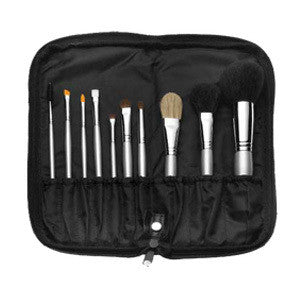 Camera Ready 10 Piece Silver Brush Set -  | Camera Ready Cosmetics