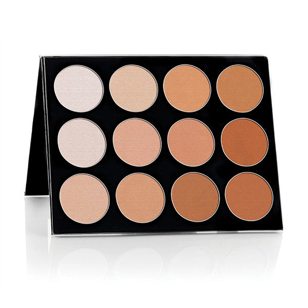 Celebre Pro-HD Pressed Powder - Contour & Highlight Palette - 12 Shades -  | Camera Ready Cosmetics