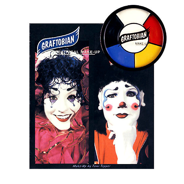 Graftobian 5 Creme Color Wheel w/ Instructions - Clown  | Camera Ready Cosmetics