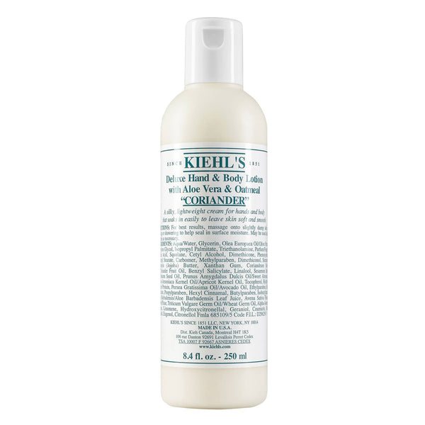 alt Kiehl's Since 1851 Deluxe Hand & Body Lotion with Aloe Vera & Oatmeal Coriander