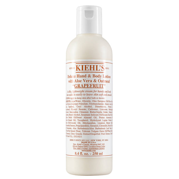 alt Kiehl's Since 1851 Deluxe Hand & Body Lotion with Aloe Vera & Oatmeal Grapefruit