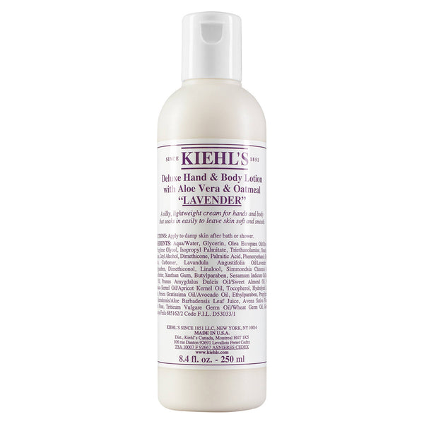 alt Kiehl's Since 1851 Deluxe Hand & Body Lotion with Aloe Vera & Oatmeal Lavender